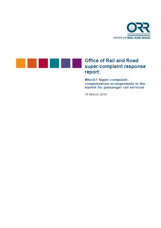 Office of Rail and Road super-complaint response report